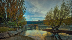 Queenstown Reboot (justenoughfocus) Tags: travel autumn trees newzealand plants lake reflection water clouds barn photography rocks otago queenstown hdr landscapephotography hdrphotography sonyalpha macphun sonya7r aurorahdr