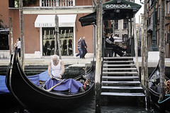 Late For Work (Culture Shlock) Tags: travel venice people italy men water work boats boat working late gondola job gondolier occupation lateforwork