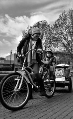 Street Photography (k_berzins) Tags: street woman bike children outside photography