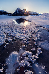 Warmth | Abraham Lake, Canadian Rockies (v on life) Tags: winter canada vertical sunrise frozen frost hoarfrost alberta frozenlake sunstar icefieldsparkway canadianrockies abrahamlake clineriver preacherspoint