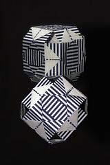 R-DECO (Miyuki Kawamura) (De Rode Olifant) Tags: reflection lines paper 3d origami pattern line paperfolding diagrams mirrorart tanteidan miyukikawamura rdeco marjansmeijsters 21thtanteidanconventionbook