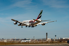 Emirates Airlines, AC Milan livery (Bob from Caledon) Tags: aircraft airplanes aeroplanes arrivals emiratesairlines a380800 cyyz a388 runway05 torontointernationalpearsonairport a6eet acmilanlivery
