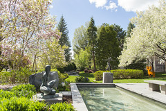 Spring Secret Garden (aaronrhawkins) Tags: flowers trees art college museum campus reflecting pond blossoms courtyard hidden discovery sculptures springtime brighamyounguniversity