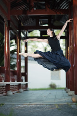 SAORI (neino-3) Tags: portrait ballet black japan female dance jump hiroshima offcameralighting