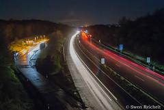 A45_bei_Winkeln (1) (Swen Reichelt) Tags: licht nacht autobahn a45 langzeitbelichtung lichtspur
