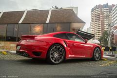 991T (Andre.Siloto) Tags: red brazil sky paran car brasil nikon br parking bra 911 vermelho exotic turbo curitiba porsche pr cwb 991 ctba d3200