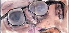 immer wenn sie dachten, es wre Ruhe eingekehrt, endlich, stand wieder einer auf, der sich wichtig machen musste (raumoberbayern) Tags: summer bus pencil subway munich mnchen sketch drawing sommer tram sketchbook heat ubahn draw bleistift robbbilder skizzenbuch zeichung