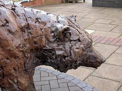 Bear in the Street (BIKEPILOT, Thx for + 4,000,000 views) Tags: bear uk greatbritain sculpture art bronze hampshire lifesize alton westbrookwalk