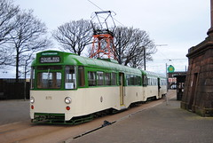 Blackpool Transport heritage tram (Hesterjenna Photography) Tags: heritage seaside tram seafront tramway blackpool fleetwood 675 pantograph 685 blackpooltransport