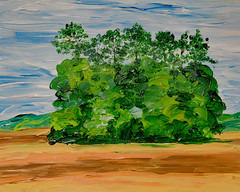 The Copse as a Painting (BKHagar *Kim*) Tags: trees art painting landscape stand artwork paint acrylic copse bkhagar