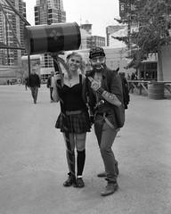 Calgary Expo 2016 (GeorgettePhoto) Tags: bw film mediumformat pentax cosplay ilfordhp5plus calgaryexpo ccee calgarycomicexpo
