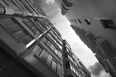 Upwards (albireo 2006) Tags: street blackandwhite bw blackwhite apartments malta pb nb bn narrow upwards sliema skywards blackandwhitephotos blackwhitephotos