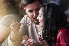 La gentilezza nel donare crea Amore (Alessandra Flor) Tags: light portrait people food love engagement couple