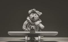 amelia bearheart (auntneecey) Tags: bear white black toy mono ameliabearheart