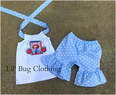 Shortcake (Lil' Bug Clothing) Tags: blue baby dot short halter shortcake