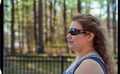 Victoria's Super Sunglasses (Evan's Life Through The Lens) Tags: life camera old friends color film college glass beautiful 35mm vintage lens md minolta kodak vibrant grain scan mount scratch develop xgm
