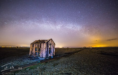 Rainbow of Stars (Robin Higginson) Tags: england night way stars kent time shed astro dungeness milky