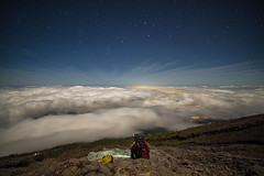 Above the clouds (Bali Adventure Guide) Tags: sky bali moon night clouds stars volcano climb full agung