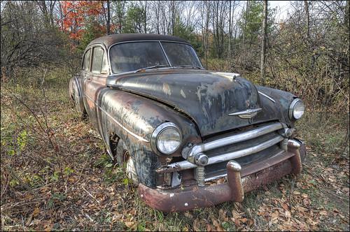 1949 Chevrolet Fleetline Deluxe 4-Door Sedan - Door County, Wisconsin (helikesto-rec) Tags: chevrolet abandoned car wisconsin rust chevy doorcounty 1949 fleetline