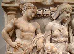 Medea Sarcophagus, upper left (close)