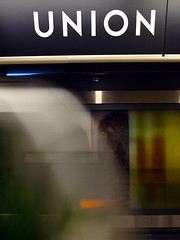 union (Ian Muttoo) Tags: toronto ontario canada underground subway metro ttc gimp motionblur unionstation torontotransitcommission ufraw dsc52201edit2