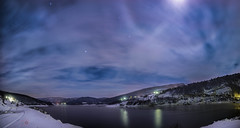 Zavojsko jezero nocu (Vladeta Manic) Tags: winter panorama lake snow night clouds stars landscape nikon long serbia stara jezero 14mm planina expousure samyang zavojsko