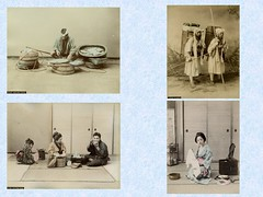 Catalogue No. B 1137-B 1140 (noel43) Tags: woman fish travelling japan photography japanese photo rice eating basin meal yokohama suzuki selling merchant washing meiji pilgrims toilete albumen shinichi shashin