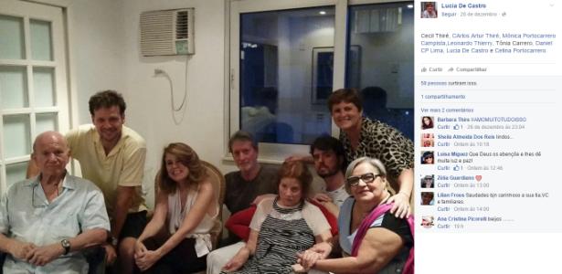 Aos 93 anos, Tônia Carrero reaparece abatida com a família