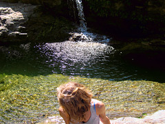 Posing at the pool 3 - AMID 14 (angeloska) Tags: nature waterfall hiking ikaria aegean september greece prettygirl   chalares mountaingorge raches angelspool   dipotama wildswimming diplopotama   upperchalares