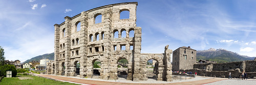 Roman theater in Aosta (Italy)