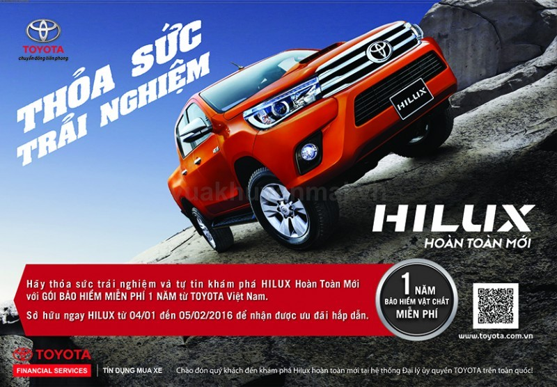 Tặng bảo hiểm Liberty khi mua xe Hilux [04.01.16 - 05.02.16]