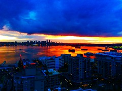 The day the sunset fell into the ocean (peggyhr) Tags: canada vancouver reflections cityscape bc sunsert thegalaxy peggyhr portmetrovancouver thelooklevel1red thelooklevel2yellow