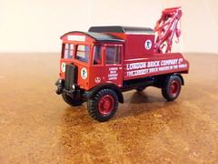 AEC Matador Recovery Truck Model. (LBCSteve) Tags: red black brick london truck recovery matador aec