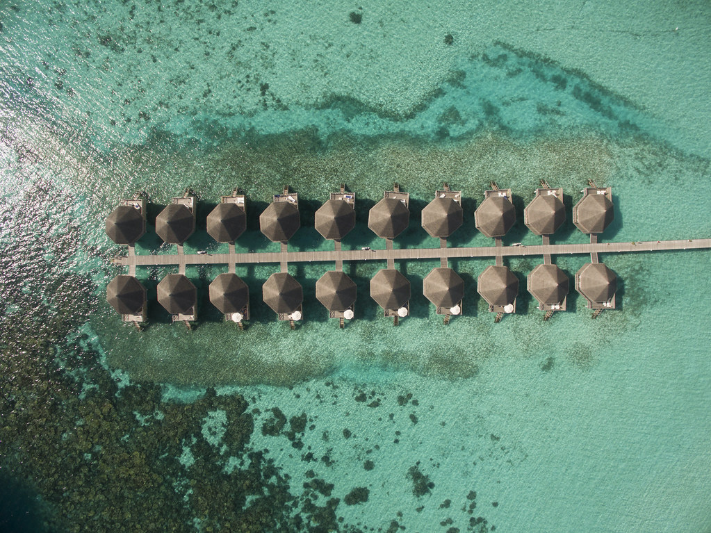 Superior Water Bungalow - Aerial