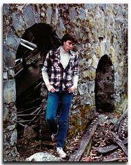 me-stone wall 80s (fotomark.net) Tags: selfportrait color