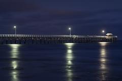Point Lonsdale Pier (85mm variant) (T. Flack) Tags: longexposure blue night lens stars point fishing nikon fishermen 85mm australia victoria hour f2 manual ais adapted lonsdale