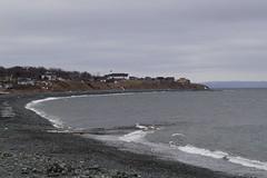 Topsail Beach (Tracy Christina) Tags: ocean winter canada beach church newfoundland waves february
