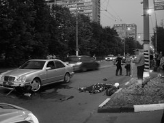 Biker's death Moscow (rustamsad) Tags: street death accident moscow