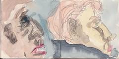 wir sprachen ber die Dinge der Welt und die Dinge des Himmels. Wrden wir ihn jemals erreichen in all unserer Schuld (raumoberbayern) Tags: summer bus pencil subway munich mnchen sketch drawing sommer tram sketchbook heat ubahn draw bleistift robbbilder skizzenbuch zeichung