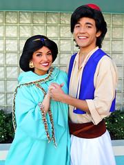 Jasmine and Aladdin (meeko_) Tags: jasmine princess aladdin prince characters disneycharacters disneys hollywood studios disneyshollywoodstudios disneyshollywoodstudiosentrance themepark walt disney world waltdisneyworld florida princessjasmine