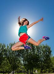 Jump (Flickr_Rick) Tags: summer woman girl outside jump jumping legs jumpology