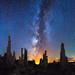 Mono Lake near Mammoth Lakes California Milky Way by Michael Matti