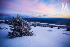 Matthieu Vitre-MtVentoux-6 (photomontagne) Tags: landscape hiver neige coucherdesoleil vaucluse ventoux montventoux