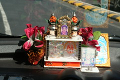Taxi dashboard shrine (brightasafig) Tags: india shrine taxi ganesh mumbai ganapati