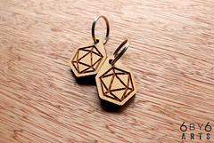 D20 Icosahedron Key Chain (thea superstarr) Tags: wood key geometry chain dungeonsanddragons sacred icosahedron d20 madeinusa reclaimed lasercut laserengraved 6by6arts