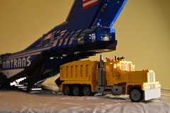 36 - Loading Trucks Into My C-4 Cargo Aircraft (Buff83ST) Tags: city west scale wheel america truck out nose layout coast town us airport cabin ramp long flat lego cab aircraft aviation military united transport style cargo semi camion american hauling airbus hood states boeing minifig titan heavy lockheed load freight loads trucking transporter sleeper loading fifth freighter alliance haul c4 amercian minifigure lkw antonov hauler cabover ilyushin flatnose schwertransport sattelschlepper auflieger sattelauflieger sattelzug 40tonner amtrans rmorque vierzigtonner