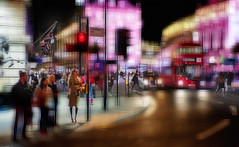 Haymarket (duncan!) Tags: street leica red abstract black bus london lights lomography bright cab extreme jupiter crystalcity j3 m240p
