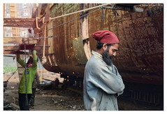 ".... (Rahat ""ArchQuad"" Amin) Tags: life red portrait workers nikon emotion documentary lifestyle environmental dhaka shipyard bangladesh sadarghat d610 archquad"