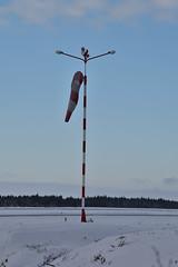 DSC_0109B (arto hkkil) Tags: winter snow finland airport oulu lumi talvi runway windsock    lentokentt   tuulipussi kiitorata