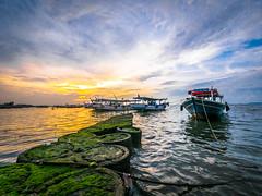 Sunset (Henry Sudarman) Tags: beach indonesia lumix panasonic pantai 714 tangerang nusantara banten gm1 mirrorless